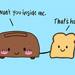Dibujo tostadora y pan de molde